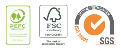 Group Joos logos FSC PEFC ISO 14001